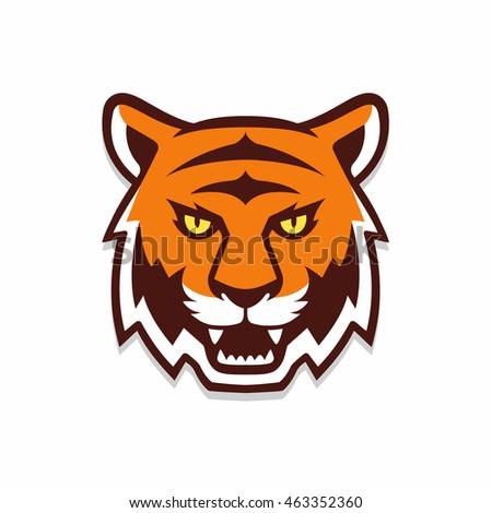 tiger head illustration sport mascot team stock vector 463352360 rh shutterstock com Cute Cartoon Tiger Head cartoon tiger head drawing