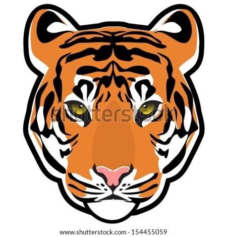 Tiger head vector stock vector royalty free 154455059 shutterstock tiger head vector publicscrutiny Images