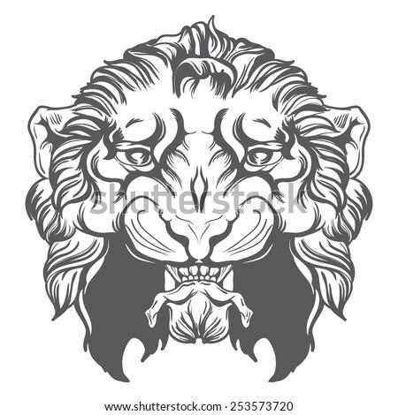 Tiger head vector illustration. - stock vector