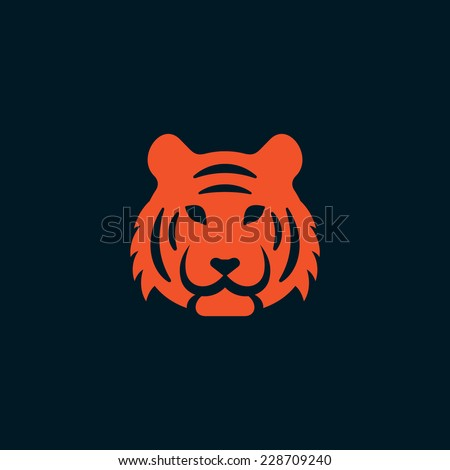 Tiger icon - stock vector