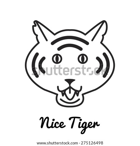 Tiger logo or icon in vector - stock vector