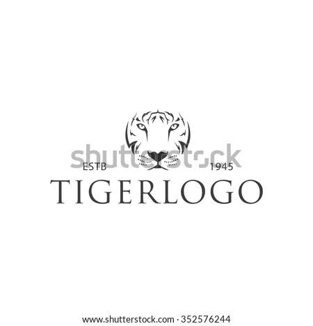 Tiger logo template - stock vector