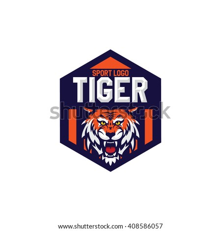 Tiger Mascot Sport Logo Badge