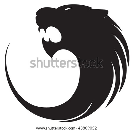 Tiger's silhouette sign - stock vector
