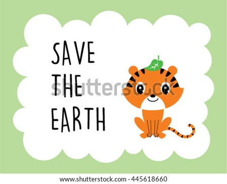 tiger save the earth card
