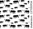 Tiger silhouette seamless pattern - stock