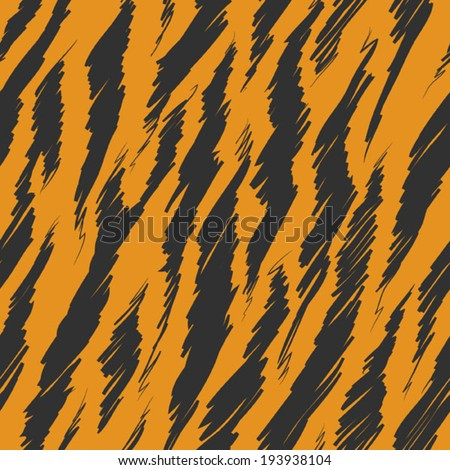 Tiger Stripes Skin Seamless Pattern - stock vector