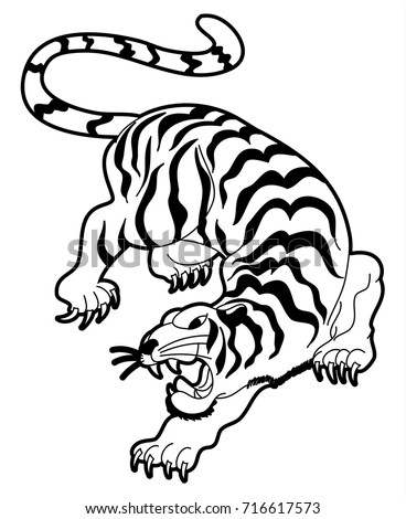 Aninimal Book: Tiger Vector Illustration Isolate On White Stock Vector ...