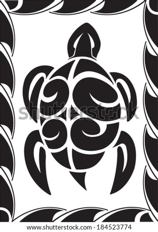 Tiki Turtle. Illustrated Tiki Turtle. Vector file available. - stock vector