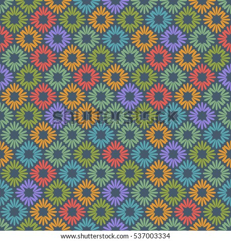 Tile Geometric Seamless Pattern. Vector Background