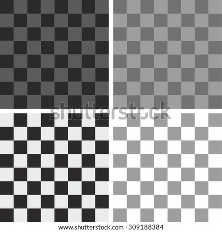 Tile grey, black and white plaid vector pattern set - stock vector