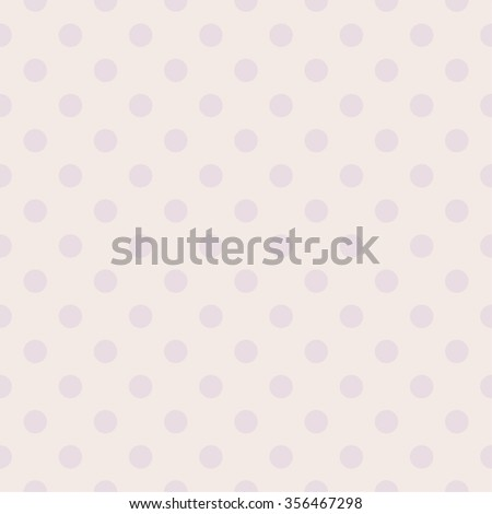 Tile pastel vector pattern with violet polka dots for background wallpaper - stock vector