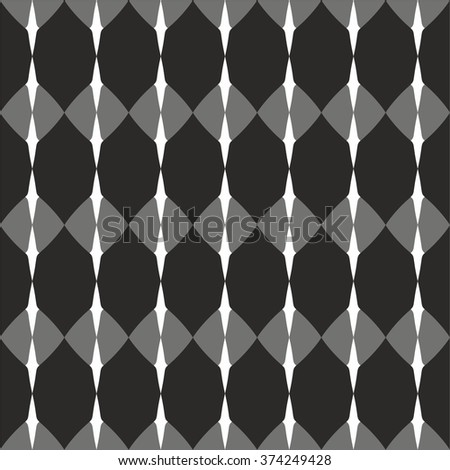Tile vector pattern with black, grey and white background wallpaper - stock vector