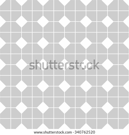 Tile vector pattern with gray and white seamless background