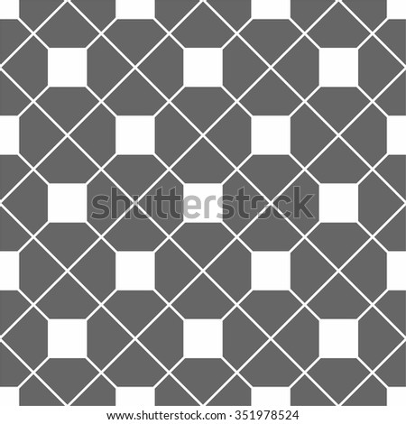 Tile vector pattern with grey and white seamless background - stock vector