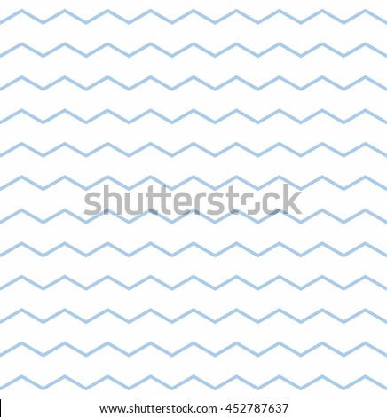Tile vector pattern with pastel blue and white zig zag background