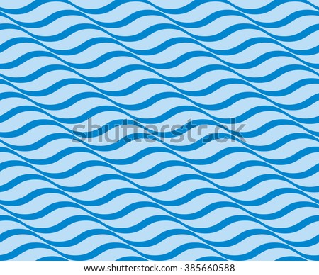 Tileable sinuous warp op twisty shape form tracery light sapphirine color with dark indigo squiggly bent strokes. billowy curvy wavelike meander winding style distorted template fond - stock vector