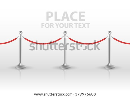 Tiled stand barriers isolated on white background. vector