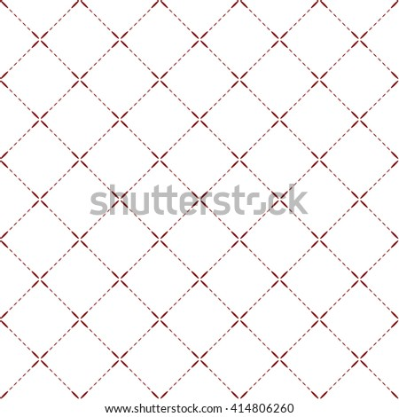 Tilled seamless background with red petal lines - stock vector