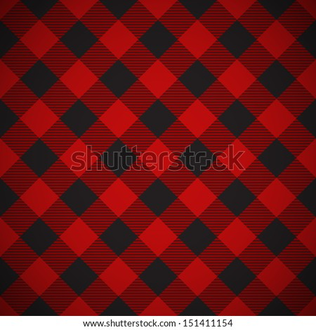 Tilted seamless lumberjack plaid background - stock vector
