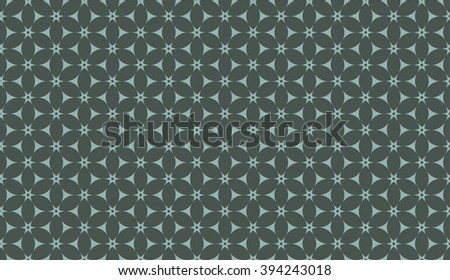 Timber green seamless floral pattern vector