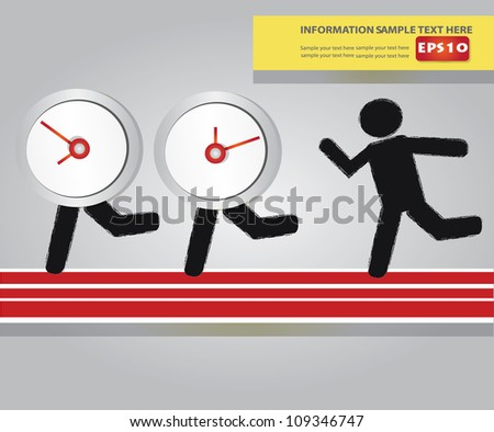 Time and businessman concept ,Vector