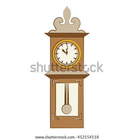 Time and clock vintage style,isolated flat line icon vector illustration graphic.