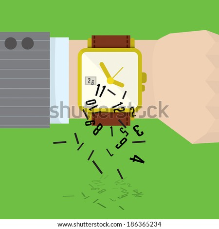 Time, business man - stock vector