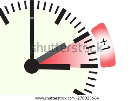 time change for spring  - stock vector