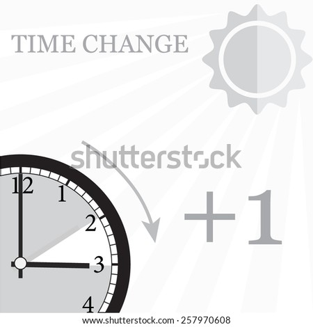 time change forward  - stock vector