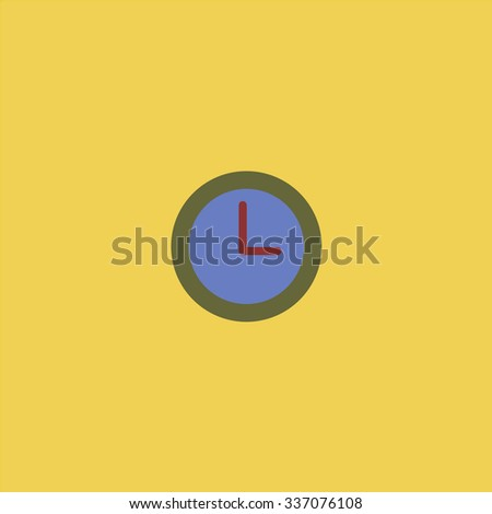 Time clock. Icon Vector. Icon Picture. Icon Graphic. Icon Art. Icon JPG. Icon JPEG. Icon EPS. Icon AI. Icon FLAT. Icon SIMPLE - stock vector