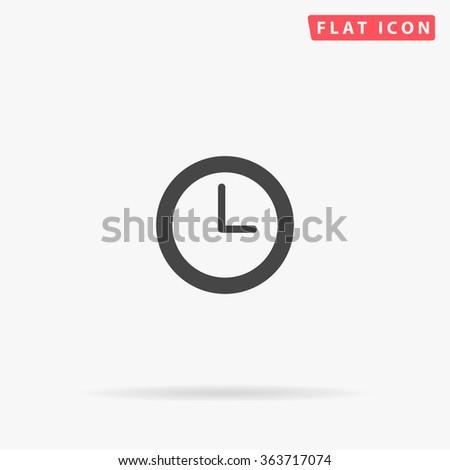 Time clock Icon Vector. Time clock Icon JPEG. Time clock Icon Picture. Time clock Icon Image. Time clock Icon Art. Time clock Icon JPG. Time clock Icon EPS. Time clock Icon AI. Time clock Icon Drawing - stock vector
