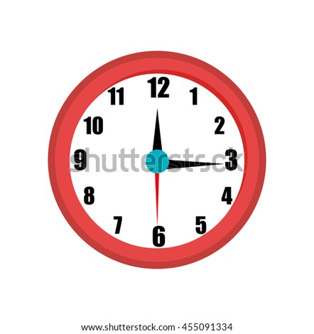 time clock isolated icon design, vector illustration  graphic