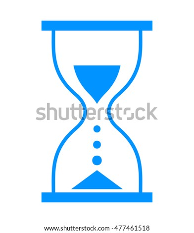 Time concept. Hourglass vector icon isolated