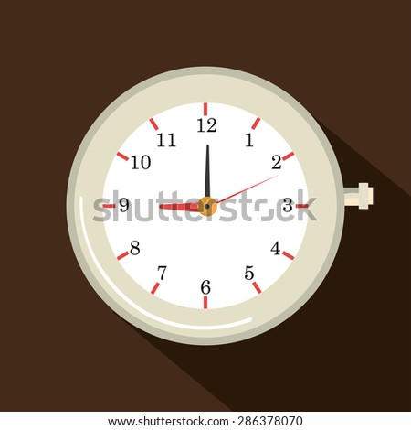 Time design over brown background, vector illustration.