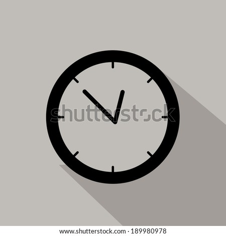 Time design over gray background, vector illustration
