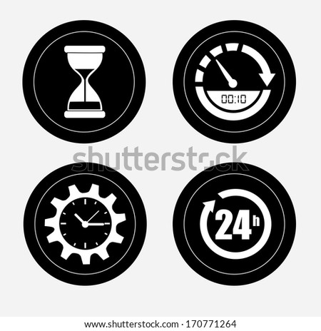 time design over white background vector illustration - stock vector