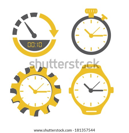 time design over white background, vector illustration - stock vector