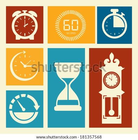 time design over white background, vector illustration - stock vector
