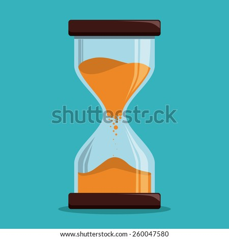 Time design over white background, vector illustration. - stock vector