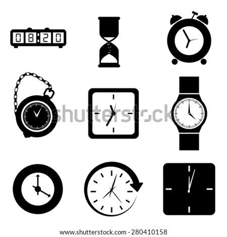 Time design over white background, vector illustration. - stock vector
