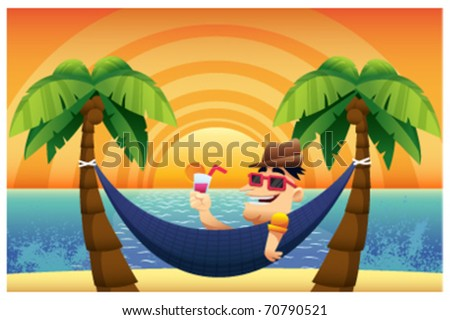 Time for a Holiday - stock vector