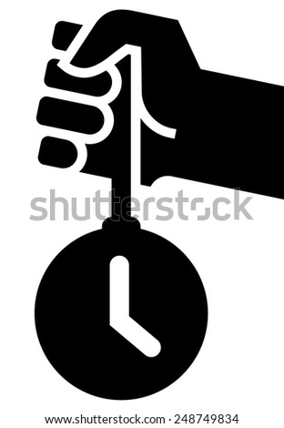 Time for action icon - stock vector