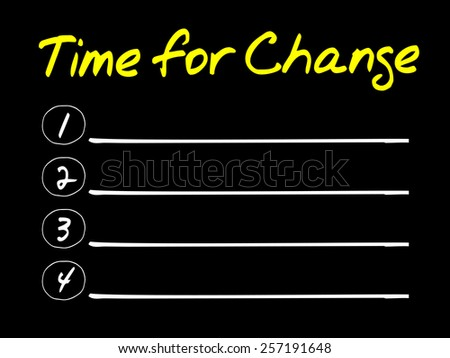 Time for Change blank list, business concept - stock vector
