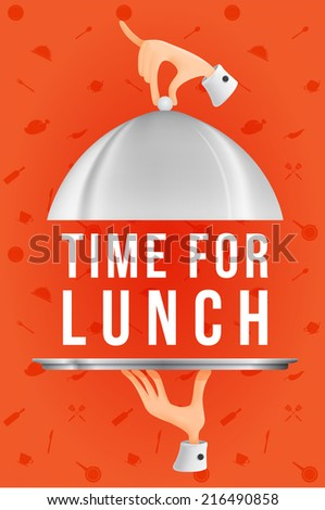 Time for lunch - stock vector