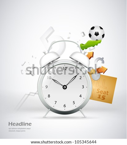 time for sport concept illustration - stock vector