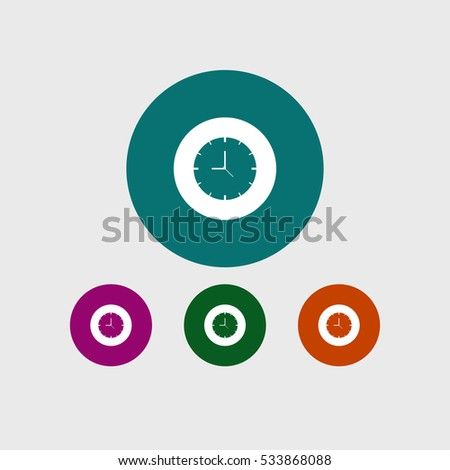Time icon time simple clock sign vector illustration