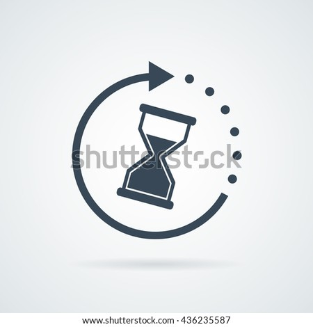 Time icon vector illustration. Sand clock symbol.