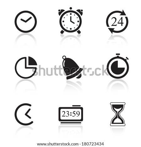 Time Icons & Simbols. Abstract vector illustration.