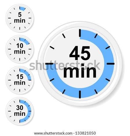 Time icons. Vector illustration. - stock vector